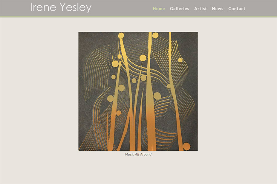 Irene Yesley Website by SKWebWorks