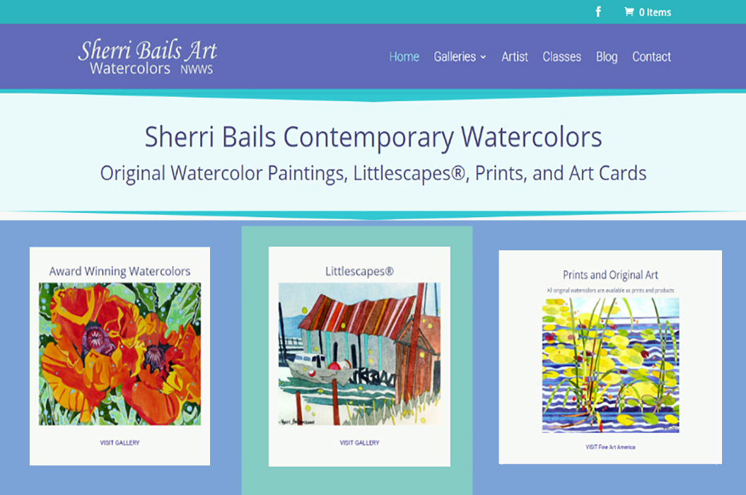 Sherri Bails Website by SKWebWorks