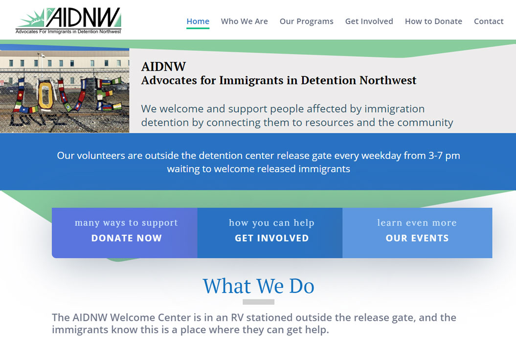 AIDNW Website by SKWebWorks